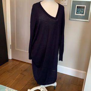 Balenciaga lightweight wool asymmetric dress
